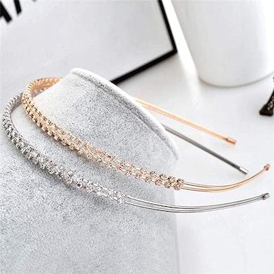 lasenersm Metal Double Headbands (2 Pieces)
