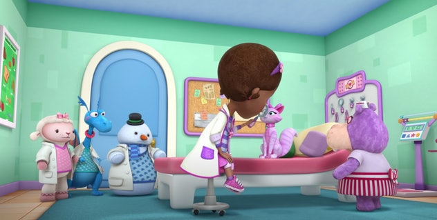 'Doc McStuffins' helps out her animal friends.