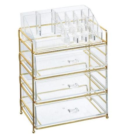 clear cosmetic storage organizer caddy