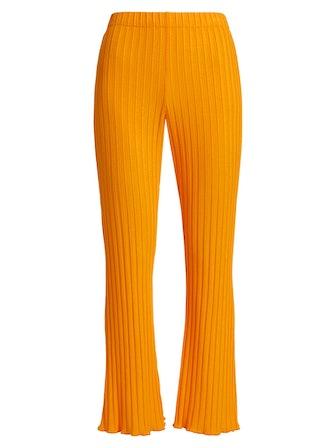 Simon Miller Cyrene High-Rise Rib-Knit Pants, available on Saks Fifth Avenue.