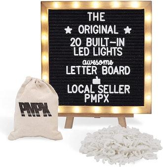 PMPX Black Felt Letter Board