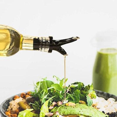 Zeppoli Oil and Vinegar Bottle Dispenser Set with Rack