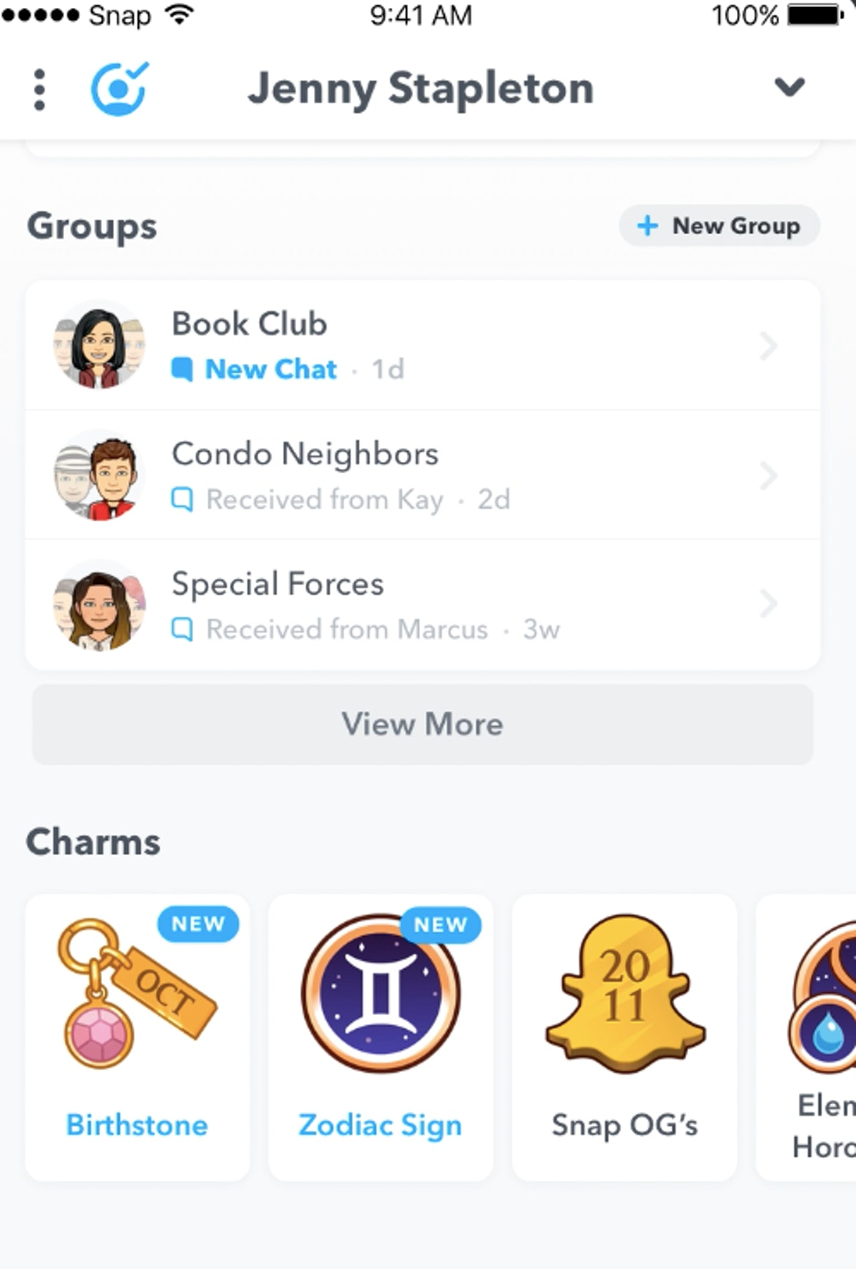 If you don't see your Snapchat Charms, here's how to get them and explore your badges.