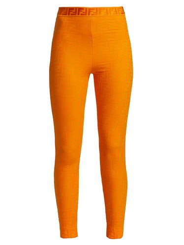 Fendi FF Fendirama Fitness Leggings, available to shop on Saks Fifth Avenue.