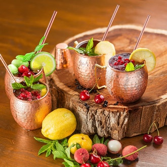Copper-Bar Moscow Mule Copper Mugs (Set of 4)