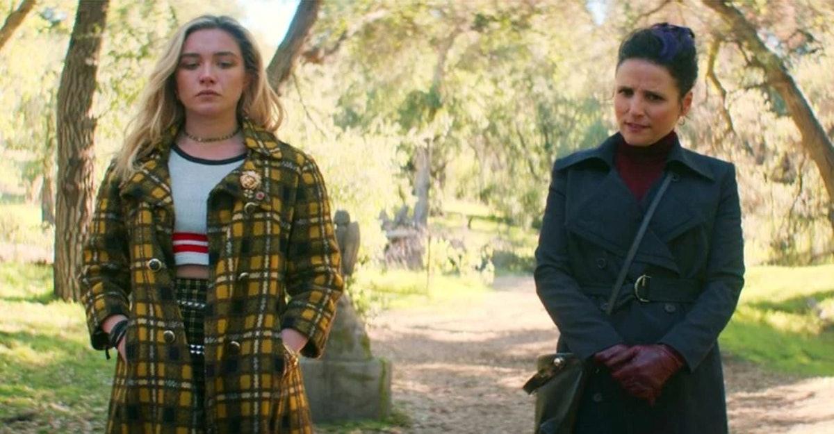 Florence Pugh and Julia Louis-Dreyfus in Black Widow's mid-credit's scene