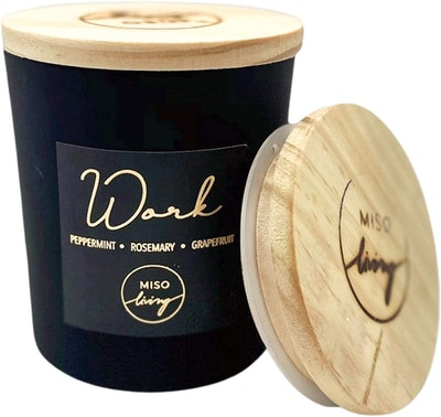 Miso Living Peppermint, Rosemary & Grapefruit Scented Candle, 8.5 Oz.