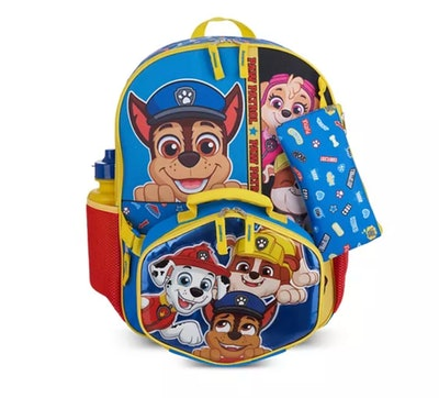 paw patrol backpack and lunch box set