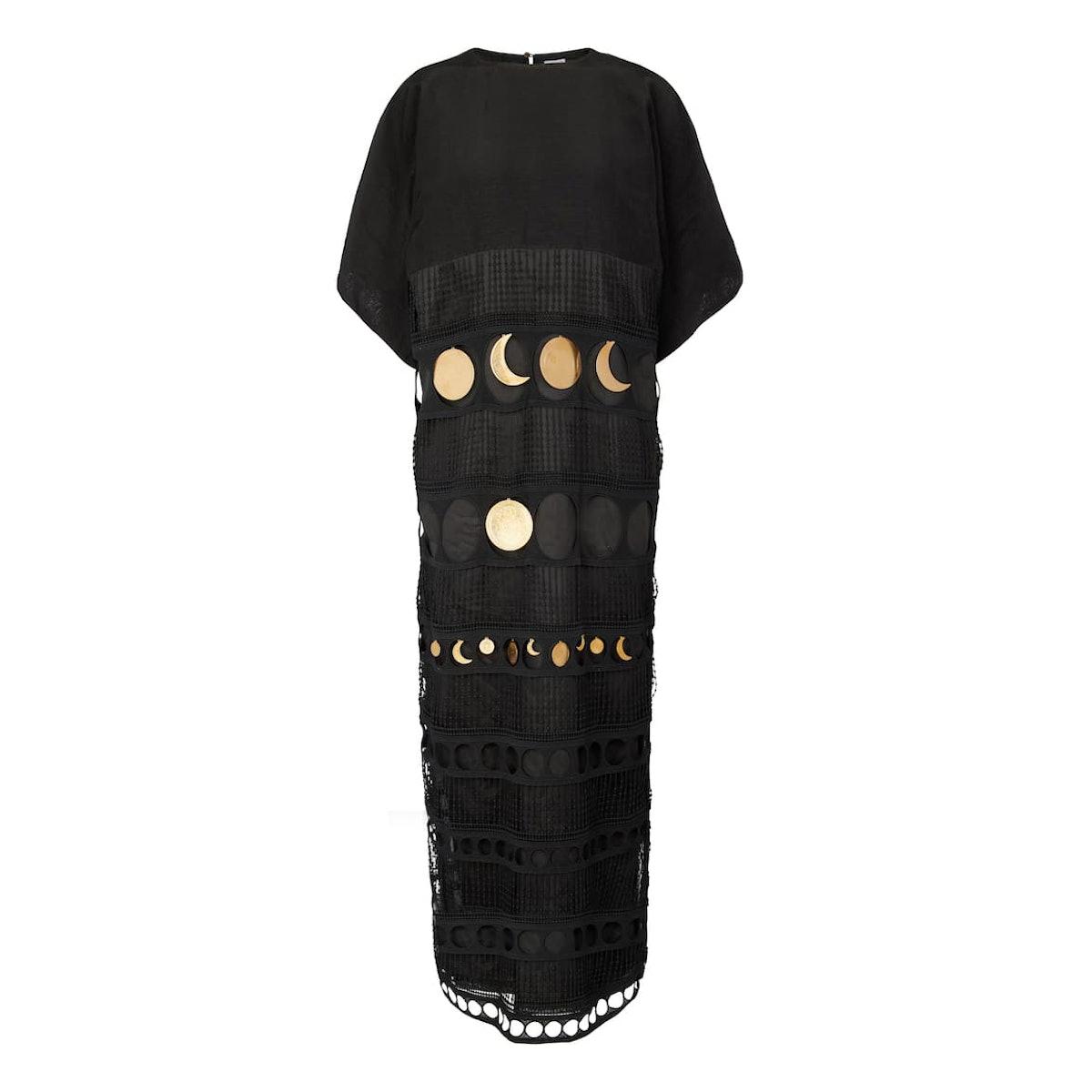 Loewe Paula's Ibiza embellished silk dress