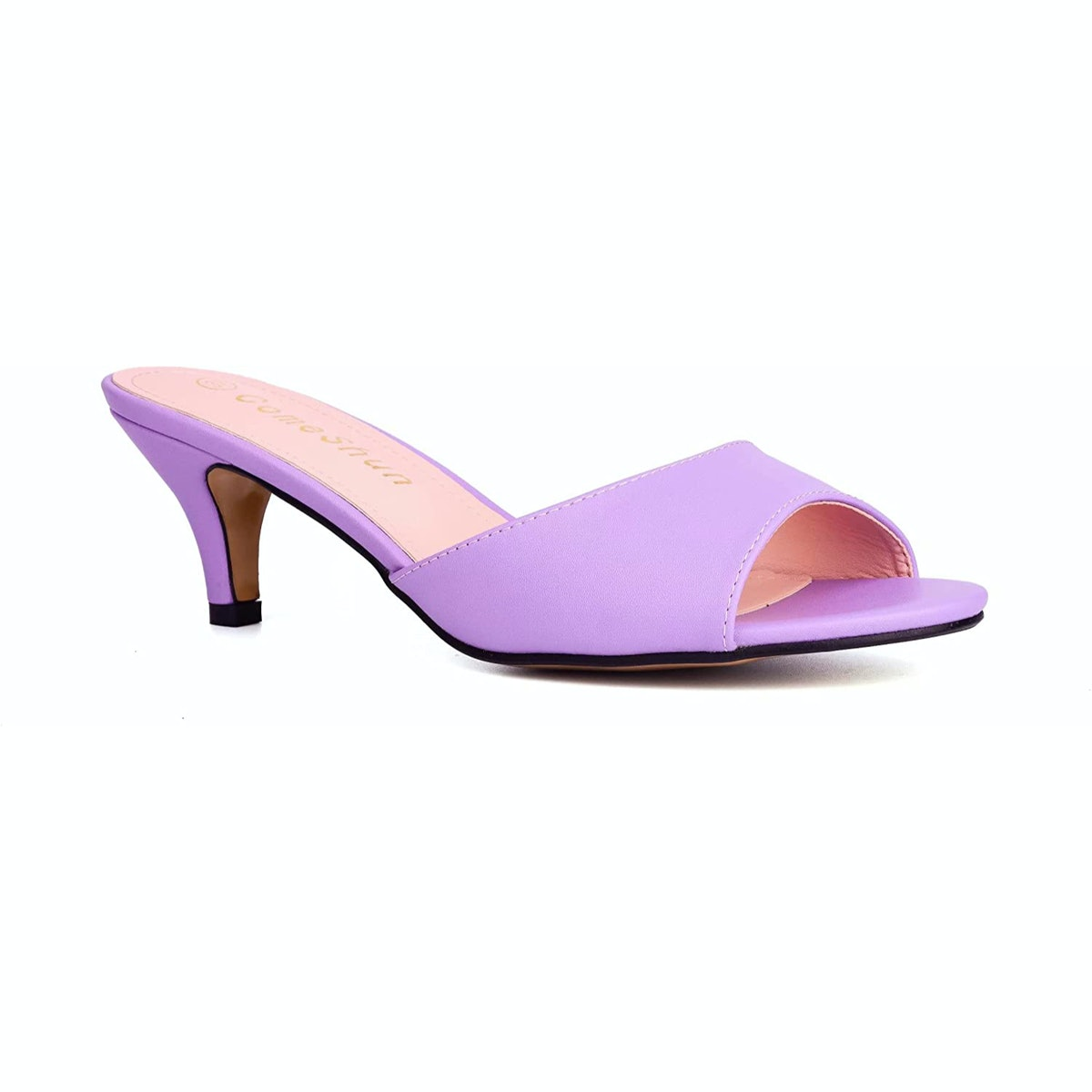 ComeShun Kitten Heel Mule Sandals