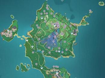 All Sakura Bloom Locations Genshin Impact Inazuma