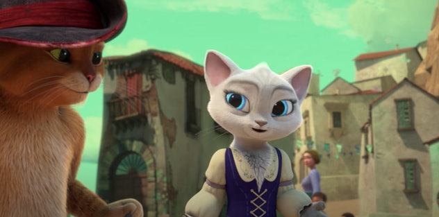 'The Adventures of Puss in Boots' is an animated series from DreamWorks.