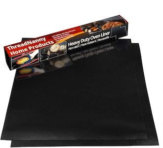 ThreadNanny Non Stick Teflon Oven Liners (2 Pack)