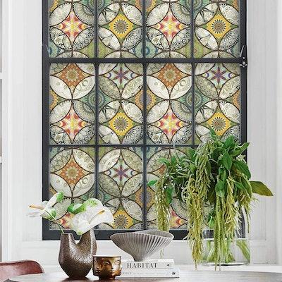 DKTIE Stained Glass Window Film