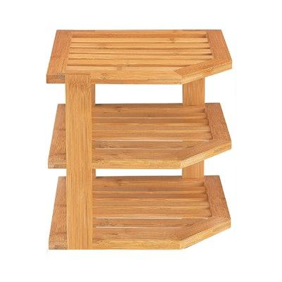 Bambüsi 3-Tier Bamboo Corner Shelf