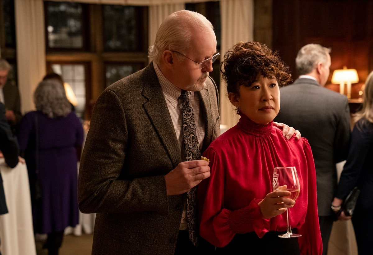 David Morse and Sandra Oh in the Netflix series The Chair