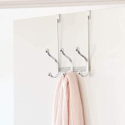 iDesign Over-The-Door 6-Hook Storage Rack