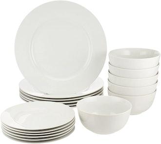 Amazon Basics Kitchen Dinnerware Set (18 Pieces)