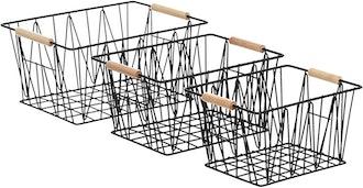 Amazon Basics Wire Storage Baskets (Set of 3)