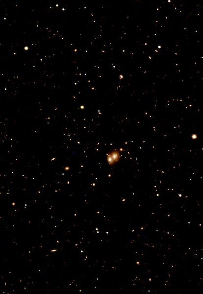optical and infrared image of galaxy cluster Abell 1775