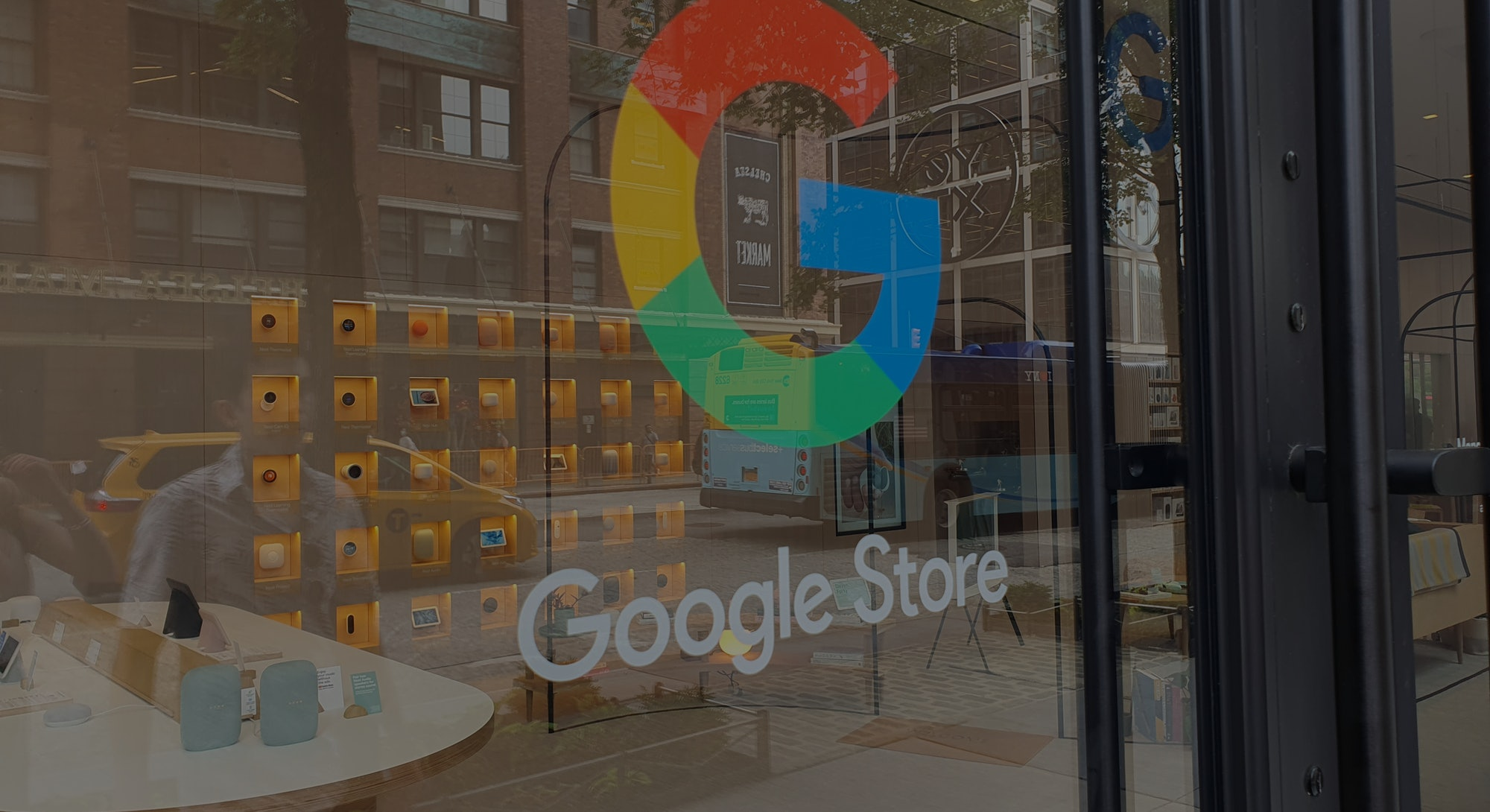 The Google Store in Chelsea, Manhattan, retail outlet, Pixel, Fitbit, Nest, Google Home