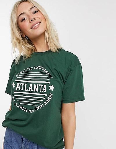 Daisy Street relaxed T-Shirt With Atlanta Print