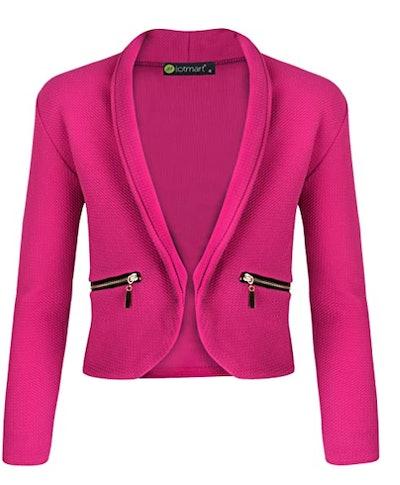 pink girl's jacket