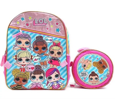 Accessory Innovations Company LOL Surprise! Gangs All Here 16-Inch Girl's Backpack With Lunch Tote