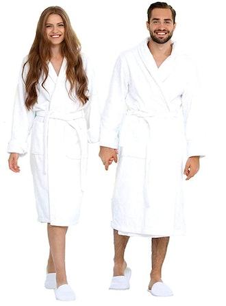 EcoLinen Luxury Bathrobe Towel with Slippers