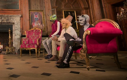 Dustin the Scarecrow, Dominic the Mantis and Mick the Rhino in 'Sexy Beasts'