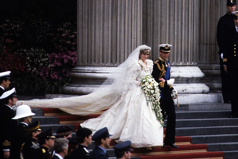 Princess Diana at her wedding to Prince Charles in July 1981.