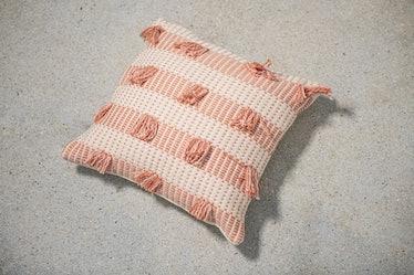 Striped Guayaba Pink Pillow