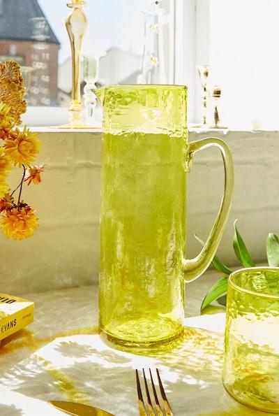 Yolk Yellow Recycled Glass Jug