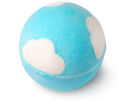 blue and white bath bomb from lush