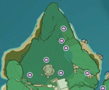 Genshin Impact Sakura Bloom Locations Araumi