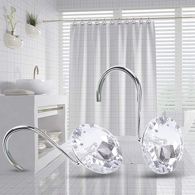 Yapicoco Shower Curtain Hooks Rings (12-Piece)