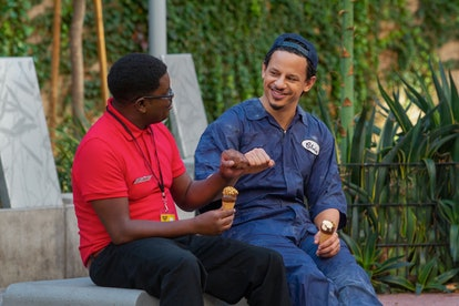 Lil Rel Howery as Bud Malone and Eric André as Chris Carey.