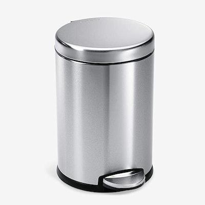 simplehuman Round Bathroom Step Trash Can