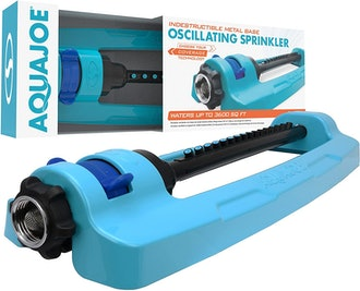 Aqua Joe Indestructible Metal Base Oscillating Sprinkler