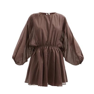 Loup Charmant Kitta open-back organic-cotton voile mini dress