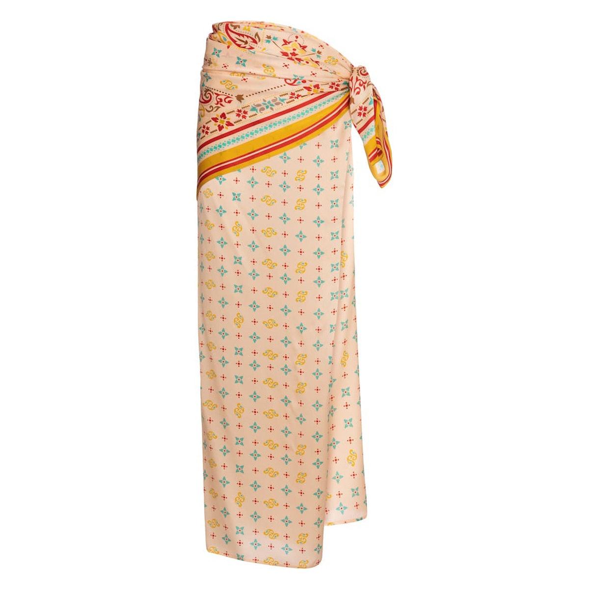 Y/Project Printed silk satin sarong