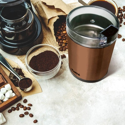 Kaffe Electric Coffee Grinder with Brush
