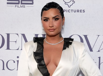 Demi Lovato opened up about filming their first sex scene, presumably for their upcoming show 'Hungr...