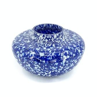 Blue & Ivory Olla Vase