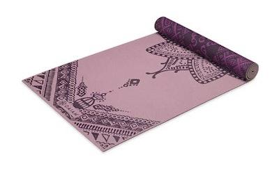 pink reversible yoga mat