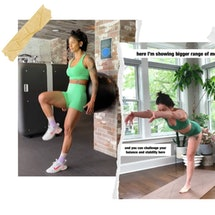 Screenshots of Massy Arias and Bethany C. Meyers, two online fitness instructors like Yoga With Adriene.