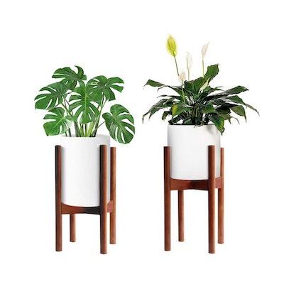 MUDEELA Adjustable Bamboo Plant Stand