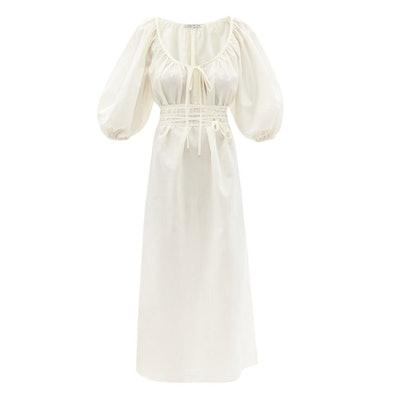 Fil de Vie Aurora scoop-neck voile dress