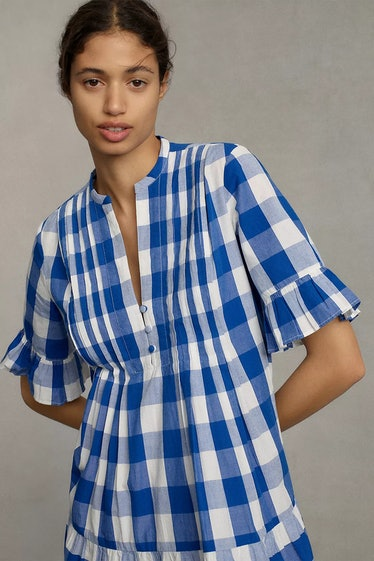 Gingham Tiered Midi Dress from WHIT TWO