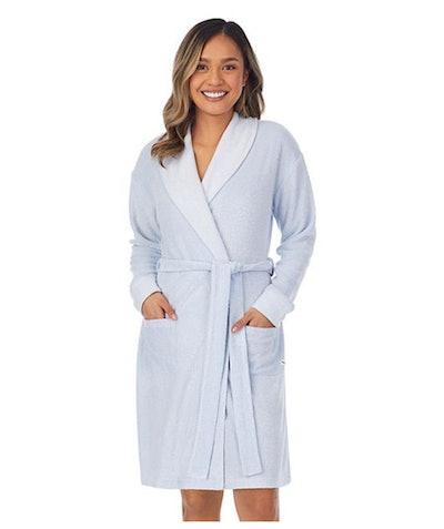 white terry wrap robe for women
